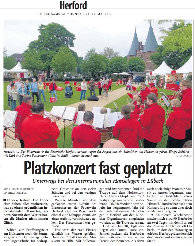 Neue Westfälische, 24.05.2014