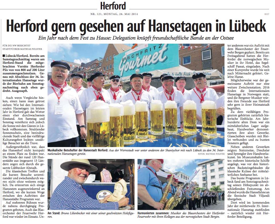 Neue Westfälische, 26.05.2014
